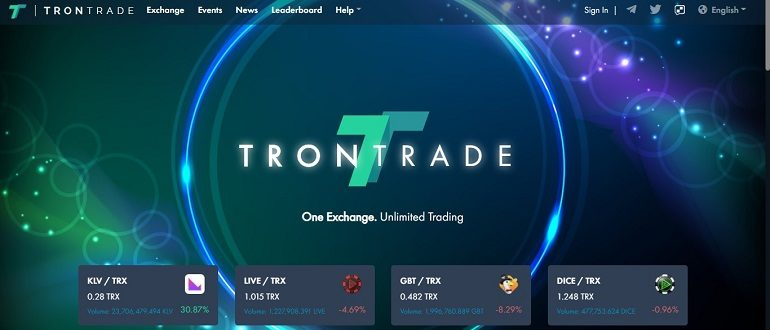 TronTrade – краткий обзор криптобиржи